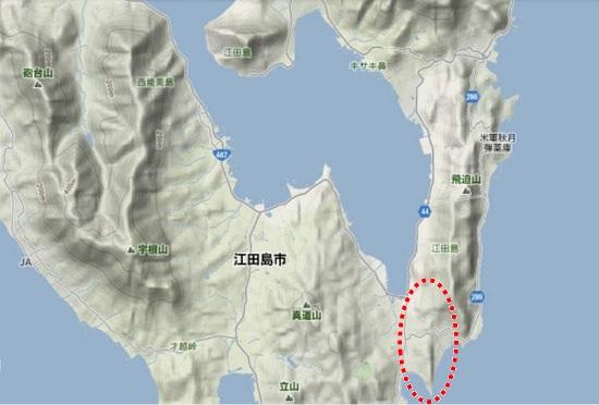 2)江田島町南部・江南地区