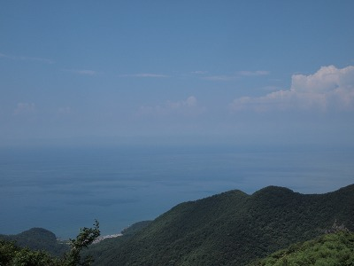 日本海が見えます