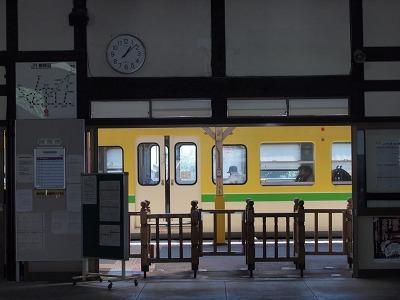 弥彦駅に戻ってきました