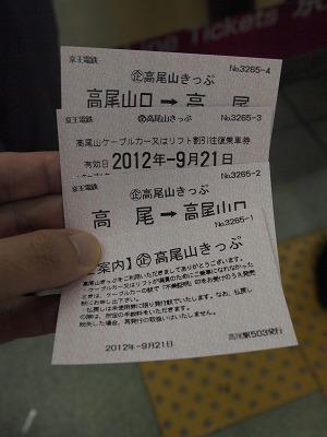 高尾山きっぷ