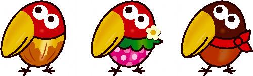 2、新デザインのキョロちゃんは、ピーナッツ、いちご、キャラメルの3人がおり、アイドルダンスユニット「キョロちゃんズ」としてデビューすることにもなった