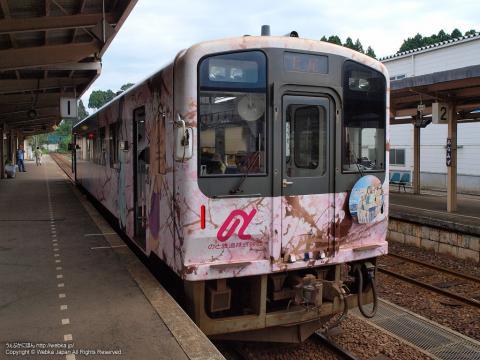のと鉄道花咲くいろはラッピング列車の画像5