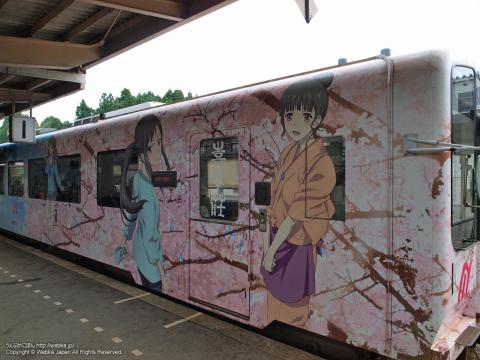 のと鉄道花咲くいろはラッピング列車の画像6