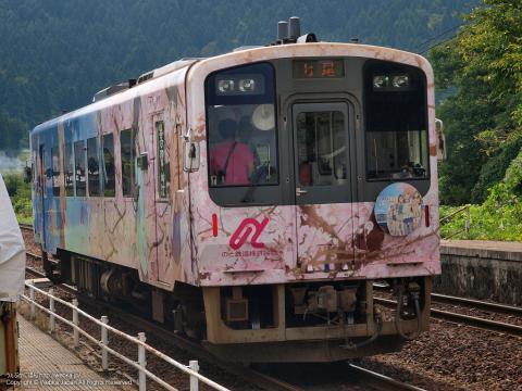 のと鉄道花咲くいろはラッピング列車の画像10