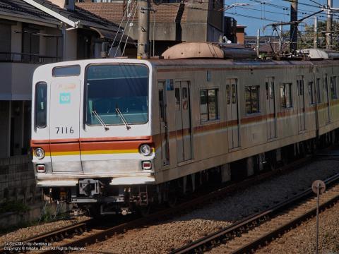 東京メトロ営団7000系電車7116F