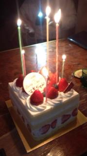 TぴょんからもらったBirthday Cake