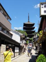 二年坂から見る清水寺の塔