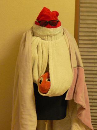 もこもこ毛布ファッション
