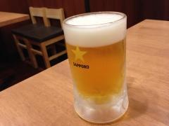 ウエスト生そば居酒屋:生ビール