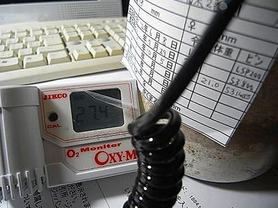 酸素濃度測定値
