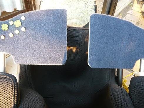 *車椅子の小さな机*