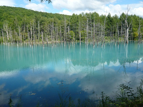*神秘な美しい青い池*