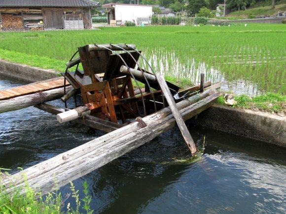 水上げ水車