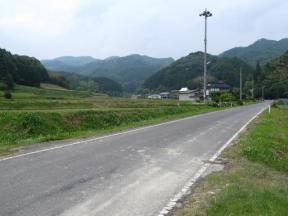 移動中の田舎風景