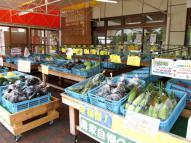 店頭に並べられた野菜たち