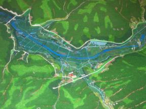 奥津湖の模型 その1