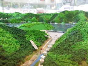 奥津湖の模型 その2