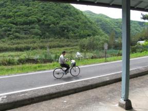 サイクリングロード利用者さん