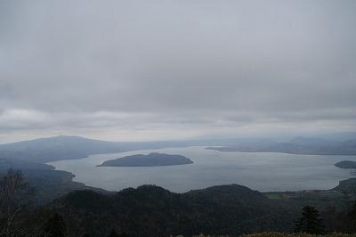 屈斜路湖(津別峠から)