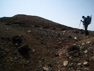 阿寒富士頂上付近