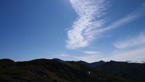 トムラウシ山方向