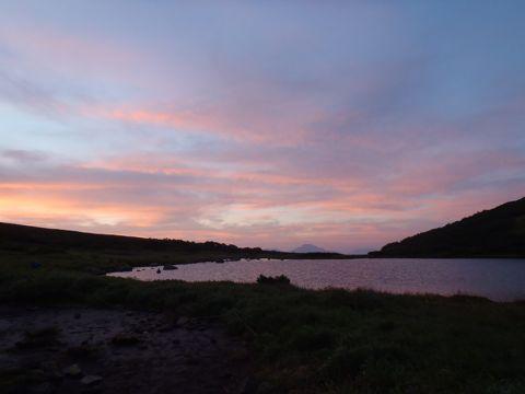 ヒサゴ沼の夕焼け