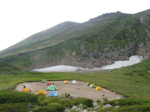 白雲小屋のテン場
