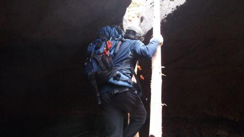 ハングを登る