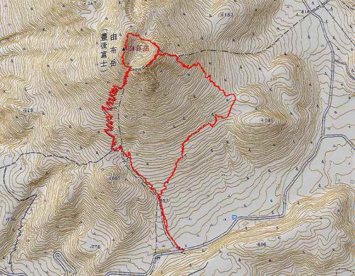 a由布岳軌跡