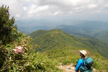 152小朝日岳からの降り