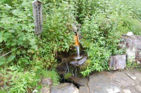 17長蔵小屋前の水場