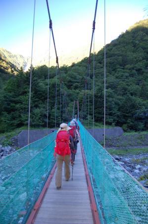 53広河原の吊り橋