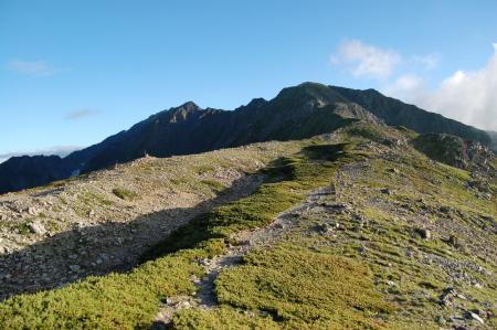 86北岳山荘から間ノ岳