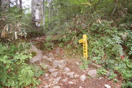5鑓温泉への登山口