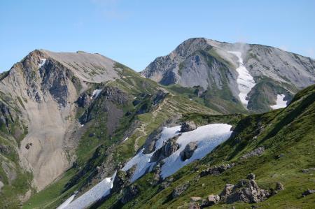 40杓子岳と鑓ヶ岳