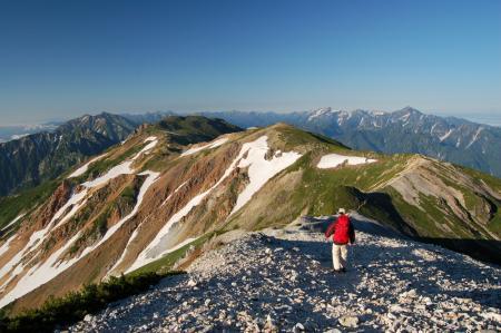 61鑓ヶ岳からの降り