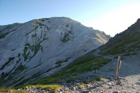 62鑓温泉分岐からの鑓ヶ岳