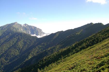 11鹿島槍ヶ岳への尾根
