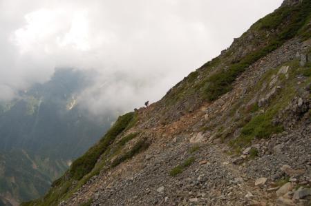 40北峰からキレットへ