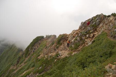 42北峰からキレットへ