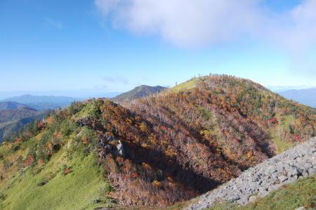 2白根隠山から白桧岳