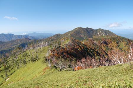 10白桧岳から見る錫ヶ岳