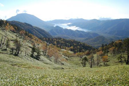 11白桧岳から見る男体山