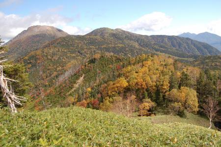 23錫ヶ岳から見る白根山