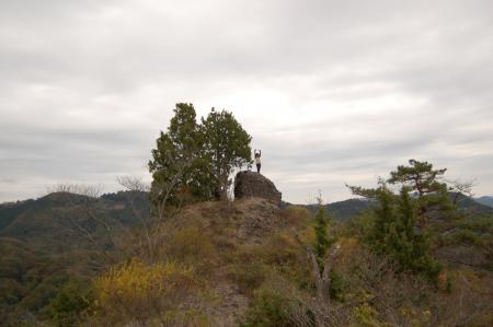 24上山ハイキングコース一枚岩