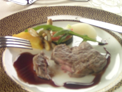 和牛フィレ肉の網焼き