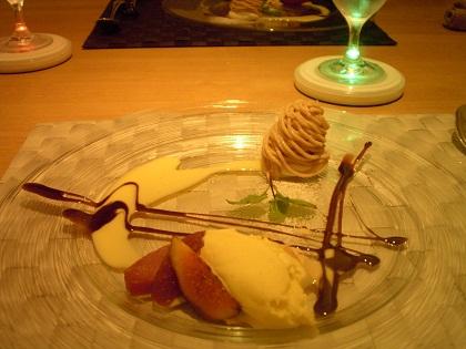 デザート(モンブラン・アイス)