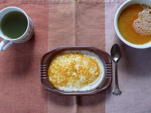 海老ドリア,野菜ジュース,トマトスープ