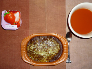 カレードリア,野菜スープ,ヨーグルト