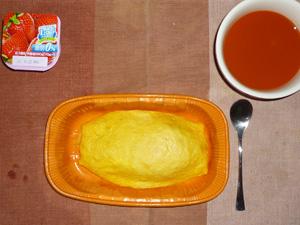オムライス,野菜スープ,ヨーグルト